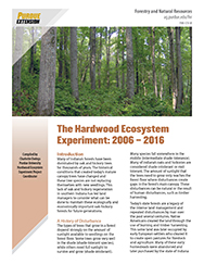 The Hardwood Ecosystem Experiment: 2006-2016 publication first page
